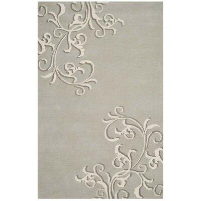 Martha Stewart Avalon Vine Tufted / Hand Loomed Grey/Beige Area Rug