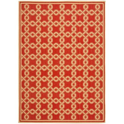 Martha Stewart Red/Creme Area Rug