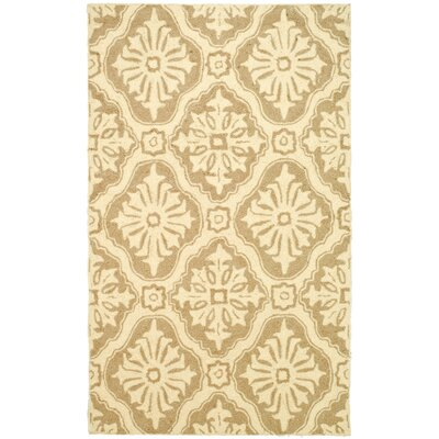 DuraRug Creme Area Rug Rug Size: Rectangle 18 x 26