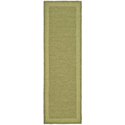 DuraRug Green Area Rug Rug Size: Runner 26 x 8