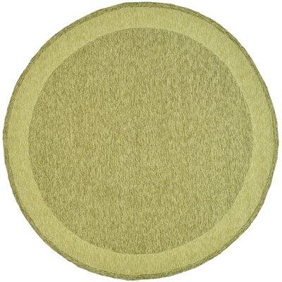 DuraRug Green Area Rug Rug Size: Round 6