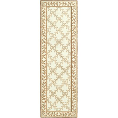 DuraRug Hand-Woven Ivory/Beige Area Rug Rug Size: Runner 26 x 10