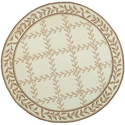 DuraRug Hand-Woven Ivory/Beige Area Rug Rug Size: Rectangle 4 x 6