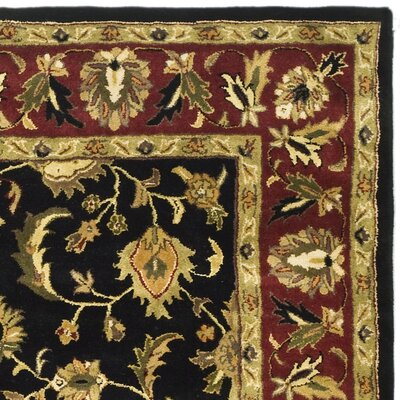 Cranmore Black Area Rug Rug Size: Rectangle 76 x 96