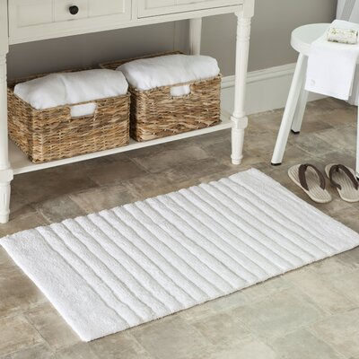 2 Piece Plush Master Bath Rug Set Size: 21 x 34, Color: White/White