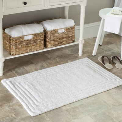 Plush Master Bath Rug II Size: 27 H x 45 W, Color: White