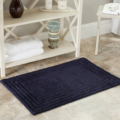 Plush Master Bath Rug II Color: Navy, Size: 27 H x 45 W