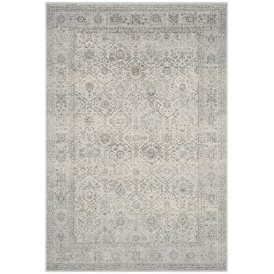 Carnegie Light Gray/Gray Area Rug Rug Size: 5'1