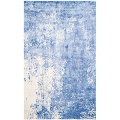 Mirage Dark Blue Area Rug Rug Size: 6 x 9