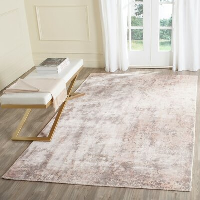 Mirage Hand Woven Pink Area Rug Rug Size: Rectangle 9 x 12
