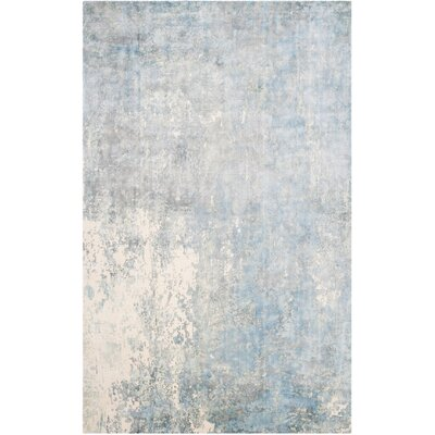 Mirage Aqua Area Rug Rug Size: Rectangle 6 x 9