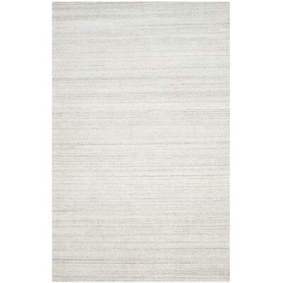 Mirage Hand-Woven Silver Area Rug Rug Size: Rectangle 9 x 12