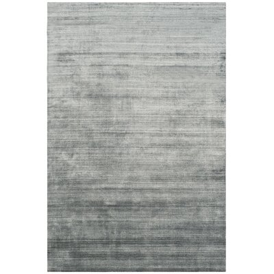 Mirage Hand-Woven Dark Gray Area Rug Rug Size: 9 x 12