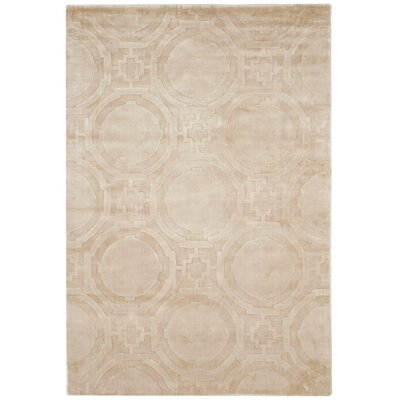 Mirage Beige Area Rug Rug Size: Rectangle 4' x 6'