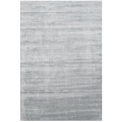 Mirage Hand-Woven Light Gray Area Rug Rug Size: Rectangle 6 x 9