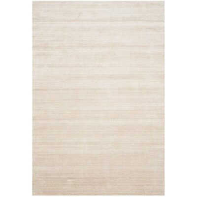 Mirage Hand-Woven Beige Area Rug Rug Size: Rectangle 6 x 9