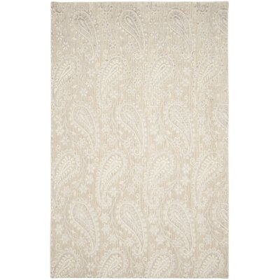 Erine Hand-Woven Gray Area Rug Rug Size: Rectangle 6 x 9