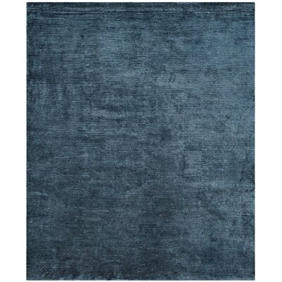 Mirage Hand Woven Blue Area Rug Rug Size: Square 16