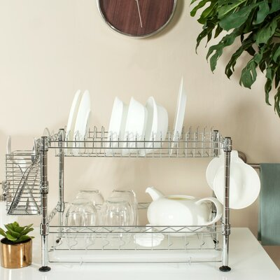 Darina Adjustable Chrome Wire Dish Rack