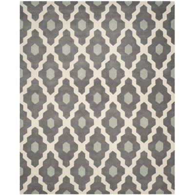 Wilkin Dark Gray/Ivory Moroccan Area Rug Rug Size: Rectangle 8 x 10