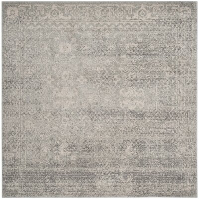 Montelimar Silver/Ivory Area Rug Rug Size: Rectangle 51 x 51