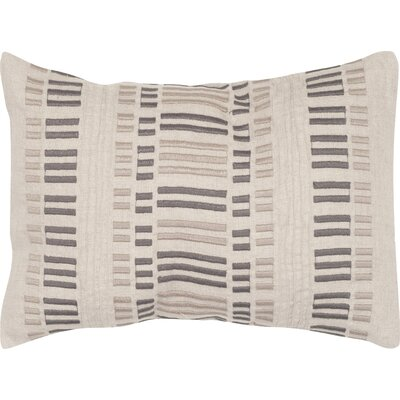 Linea Linen Lumbar Pillow Color: Taupe Granite