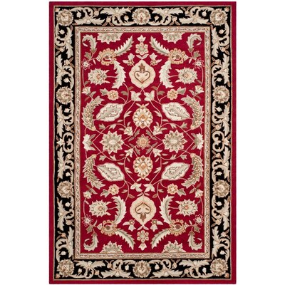 DuraArea Rug Red Area Rug Rug Size: Rectangle 6 x 9
