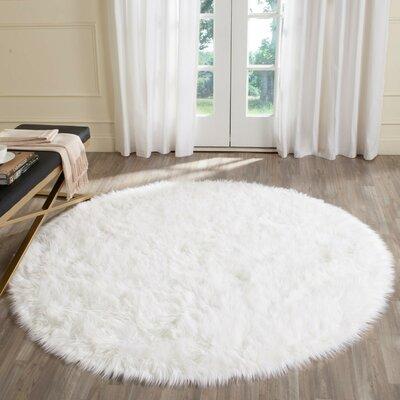Bilton White Area Rug Rug Size: Round 4