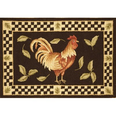 Vintage Poster Black / Ivory Rug Rug Size: Rectangle 18 x 26