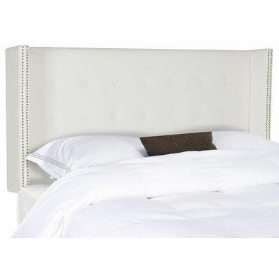Keegan Velvet UpholsteredWingback Headboard Size: Full, Upholstery: White