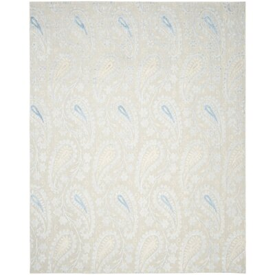 Erine Hand-Woven Light Blue/Beige Area Rug Rug Size: Rectangle 8 x 10