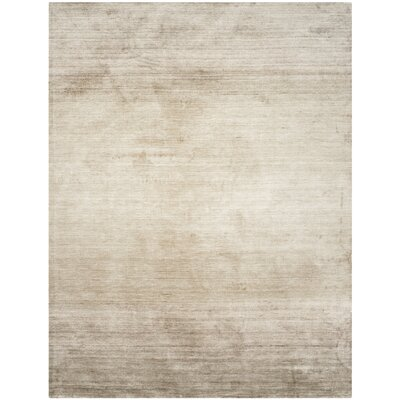 Mirage Hand-Woven Gray Area Rug Rug Size: Rectangle 8 x 10