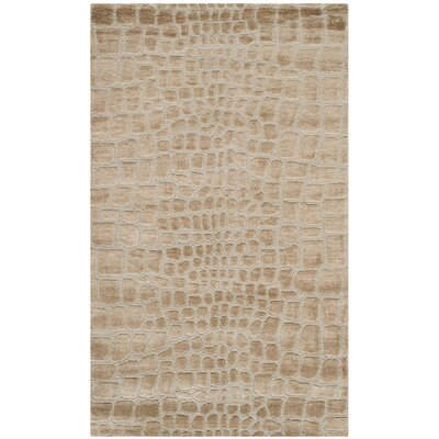 Amazonia Hand-Tufted Ivory Area Rug Rug Size: Rectangle 56 x 86