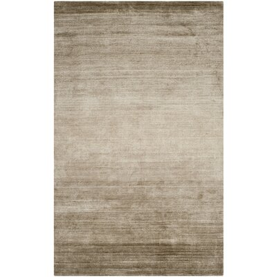 Mirage Hand-Woven Gray Area Rug Rug Size: Rectangle 5 x 8