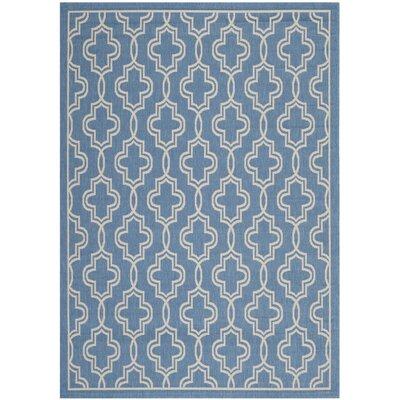 Martha Stewart Beige/Blue Area Rug