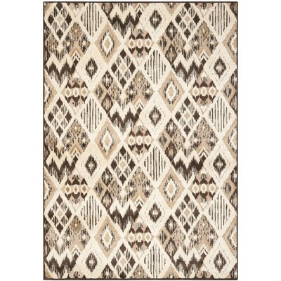 Thom Felica Brown/Taupe Area Rug Rug Size: 53 x 76