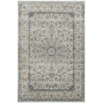 Persian Garden Light Gray / Ivory Area Rug Rug Size: Rectangle 53 x 76