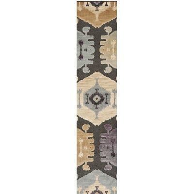 Thom Filicia Charcoal/Beige Area Rug Rug Size: Runner 25 x 76