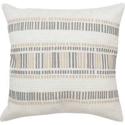 Linea Linen Throw Pillow Color: Taupe Granite