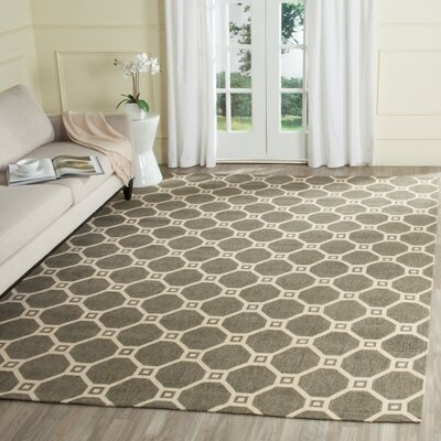 Thom Filicia Hand-Loomed Gray/Ivory Area Rug Rug Size: Rectangle 8 x 10