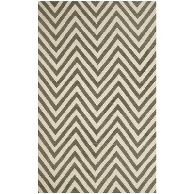Thom Filicia Hand-Loomed Gray/Ivory Area Rug Rug Size: Rectangle 5 x 8