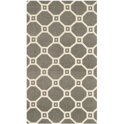 Thom Filicia Hand-Loomed Gray/Ivory Area Rug Rug Size: Rectangle 4 x 6