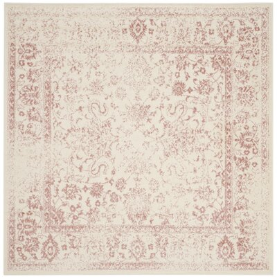 Issa Ivory/Rose Area Rug Rug Size: Square 8