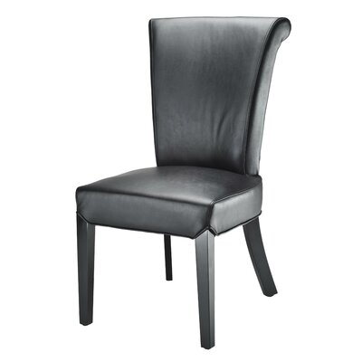 Nora Side Chair Upholstery: Black