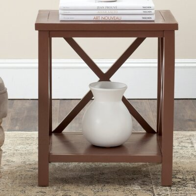 Davies End Table Color: Henna Brown