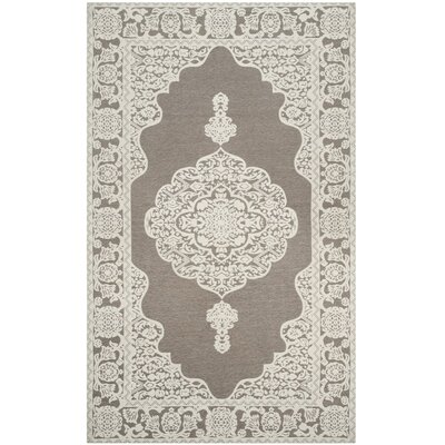 Marbella Hand-Woven Light Gray/Ivory Area Rug Rug Size: Rectangle 4 x 6