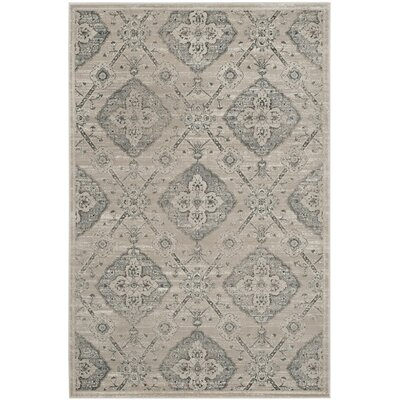 Joana Taupe/Light Blue Area Rug Rug Size: Rectangle 4 x 6