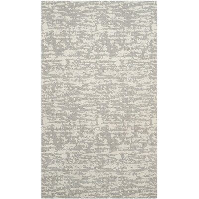 Marbella Hand-Woven Gray/Beige Area Rug Rug Size: Rectangle 4 x 6
