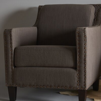 Lucy Armchair Color: Charcoal Brown