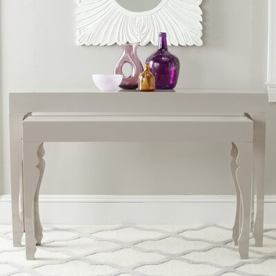Beth 2 Piece Console Table Set Finish: Taupe